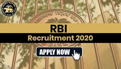 RBI Recruitment 2020 | Apply
