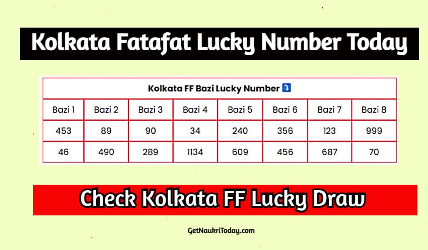 Kolkata Fatafat Lucky Number Today 2021 Aaj Ka Lucky Number Check Now