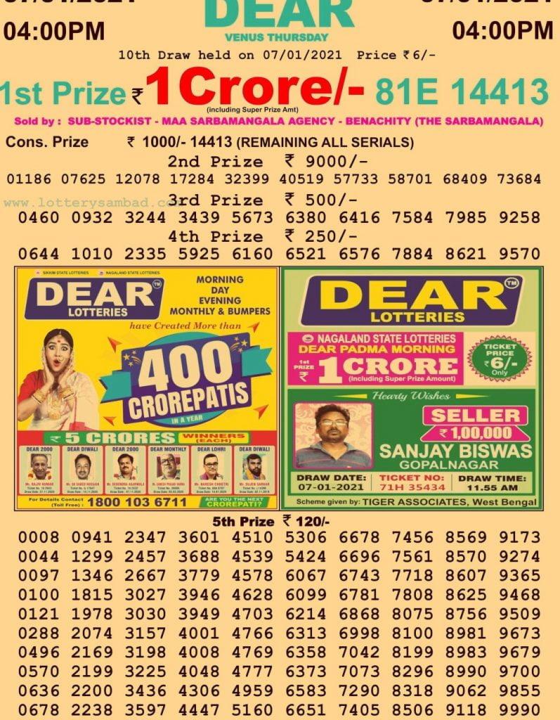 Dhan Kesari Lottery Result 4 PM Live Today