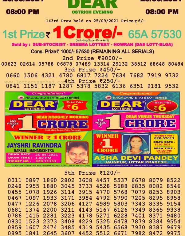 Dhan Kesari Lottery Result 8 PM