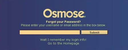 Osmosetech password reset process