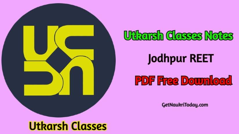 Utkarsh Classes Jodhpur Notes PDF in Hindi
